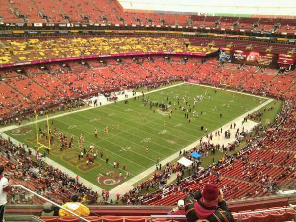 FedEx Field, section: 408, row: 9, seat: 15