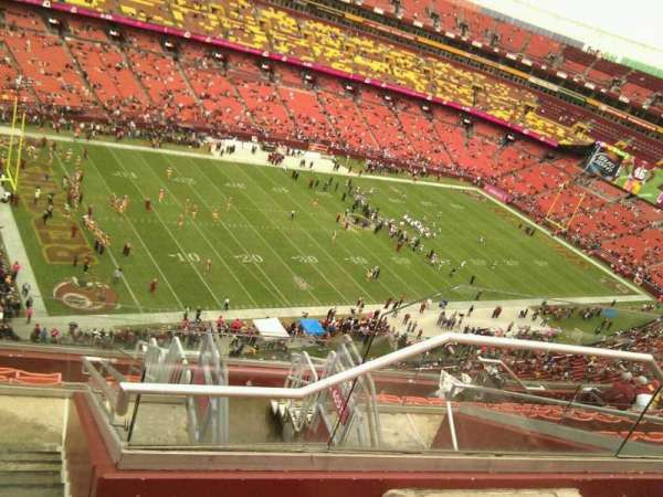 FedEx Field, section: 406, row: 10, seat: 4