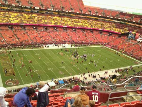 FedEx Field, section: 405, row: 13, seat: 11