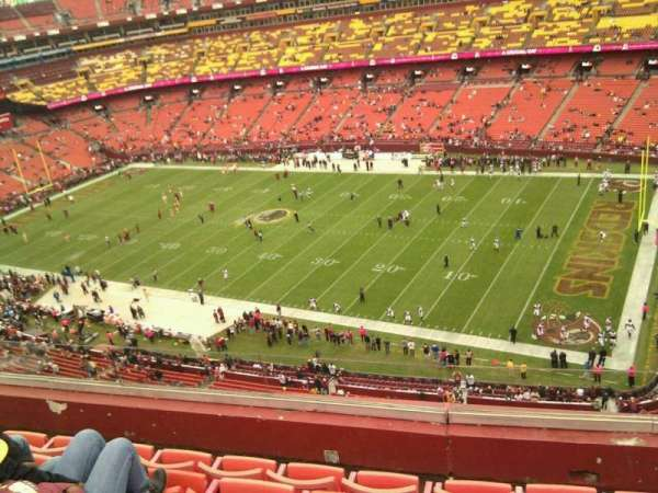 FedEx Field, section: 450, row: 5, seat: 11