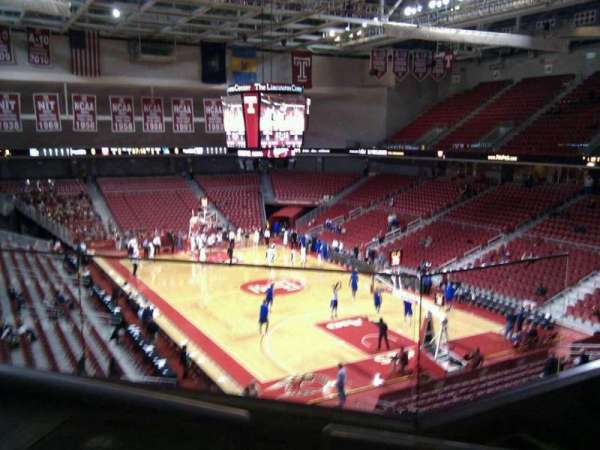 Liacouras Center, section: 210, row: d, seat: 2