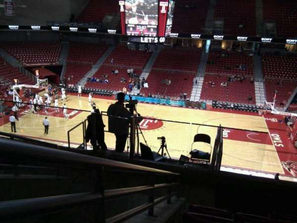 Liacouras Center, section: 212, row: f, seat: 12