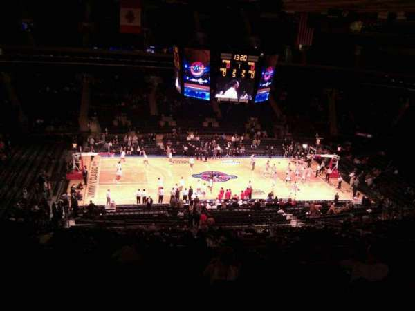 Madison Square Garden, section: 210, row: 12, seat: 11
