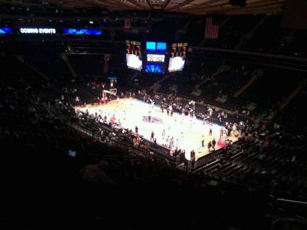 Madison Square Garden, section: 214, row: 14, seat: 23