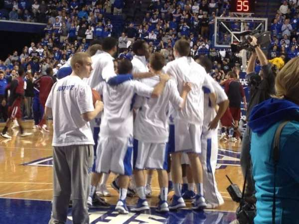 Rupp Arena, section: 22, row: floor, seat: 12