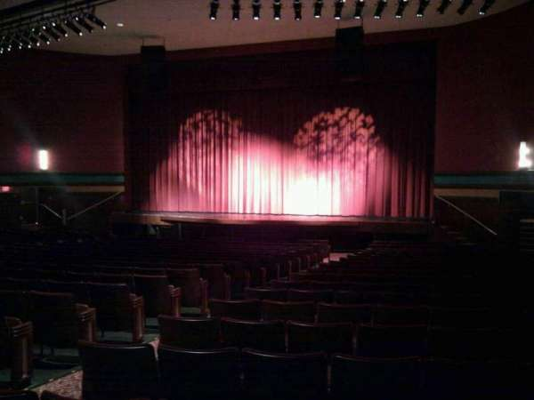 Landis Theater, section: orchestra right, row: v, seat: 10