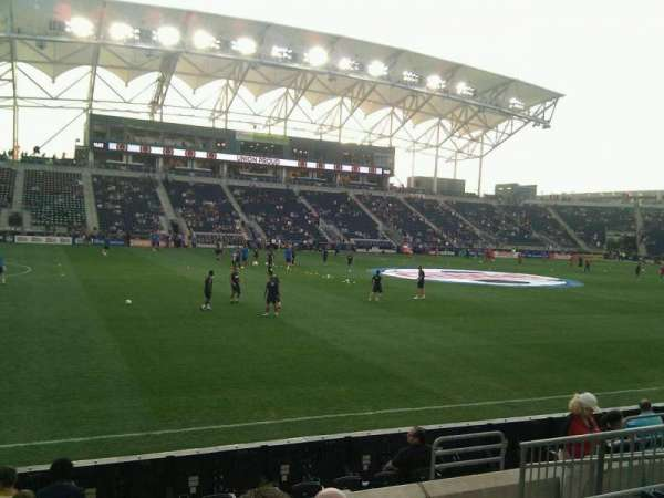 Talen Energy Stadium, section: 130, row: g, seat: 8