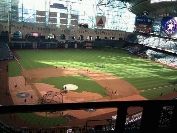 Minute Maid Park, section: 421, row: 1, seat: 14