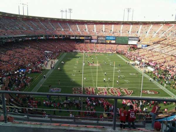 Candlestick Park, section: 7, row: 3, seat: 9