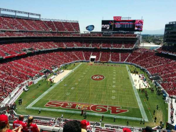 Levi's Stadium, section: 302, row: 7, seat: 23
