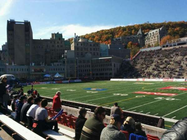 Percival Molson Memorial Stadium, section: u1, row: 5, seat: 18