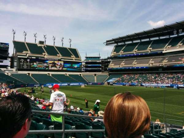 Lincoln Financial Field, section: 105, row: 16, seat: 23