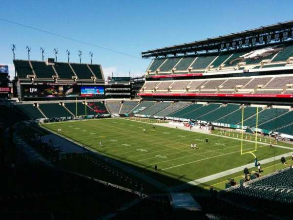 Lincoln Financial Field, section: SW Terrace 1, row: 3, seat: 38