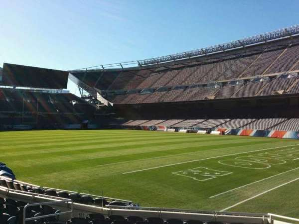 Soldier Field, section: 101, row: 10, seat: 8