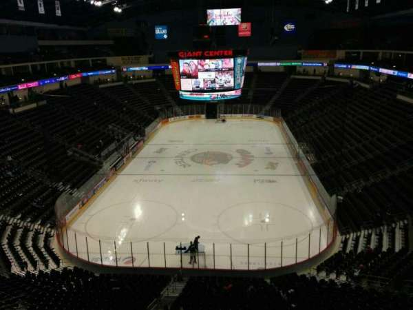 Giant Center, section: 201, row: 6, seat: 7