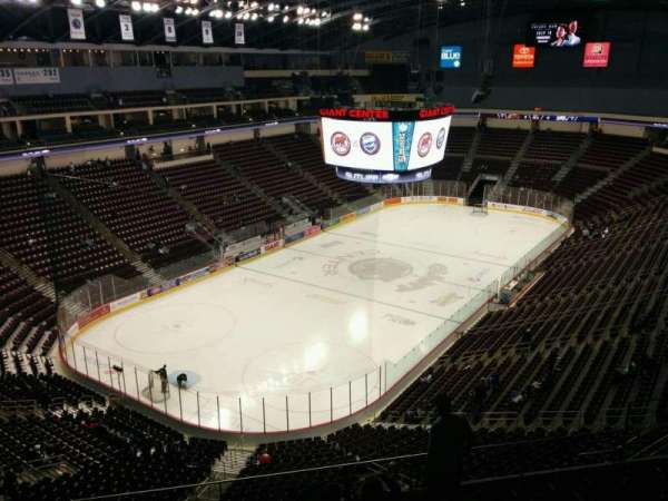 Giant Center, section: 203, row: h, seat: 16
