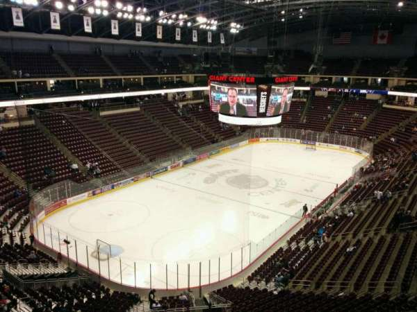 Giant Center, section: 216, row: e, seat: 19