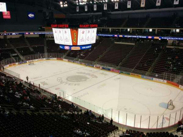 Giant Center, section: 223, row: b, seat:  9