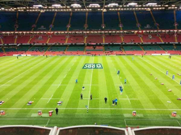 Principality Stadium, section: u9, row: 3, seat: 19