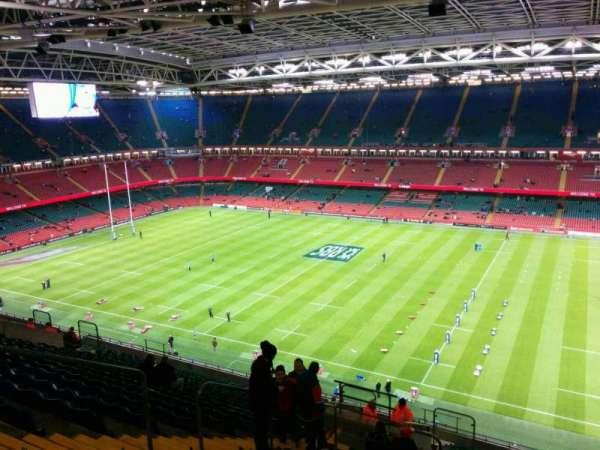 Principality Stadium, section: U6, row: 26, seat: 8