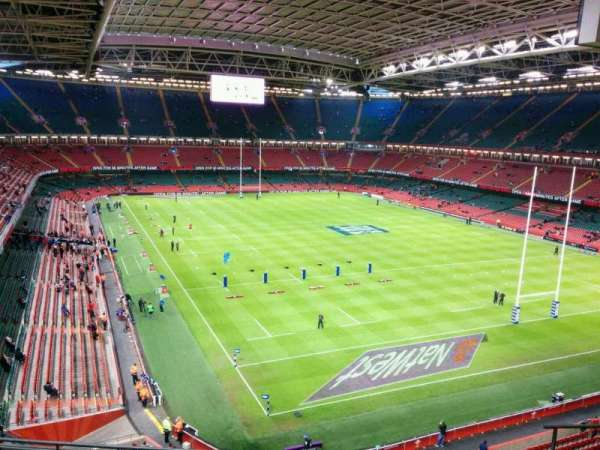 Principality Stadium, section: U2, row: 8, seat: 14