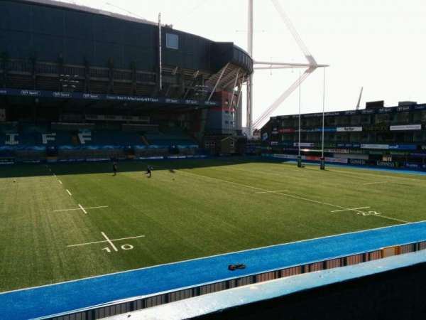 Cardiff Arms Park, section: 13, row: b, seat: 6