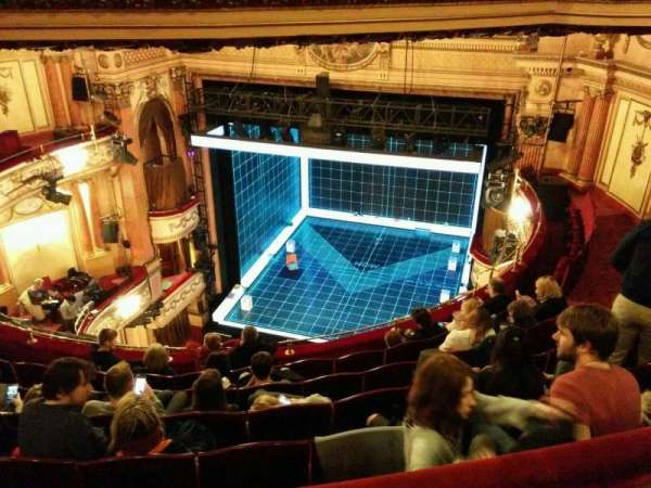Gielgud Theatre, section: grand circle, row: g, seat: 4
