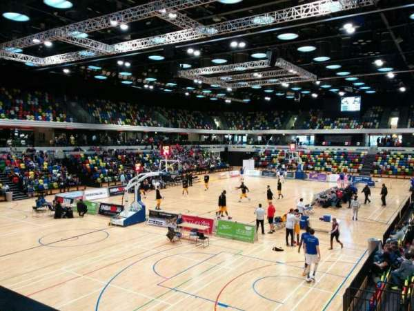 Copper Box Arena, section: 107, row: 10, seat: 20