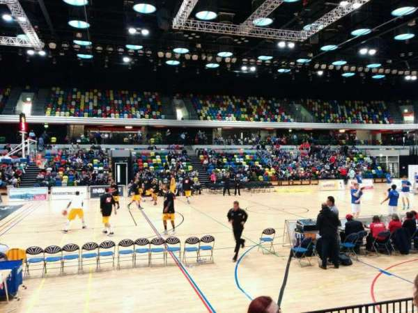 Copper Box Arena, section: 105, row: 6, seat: 99