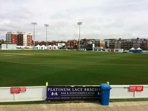 County Cricket Ground (Hove), section: D, row: f, seat: 63