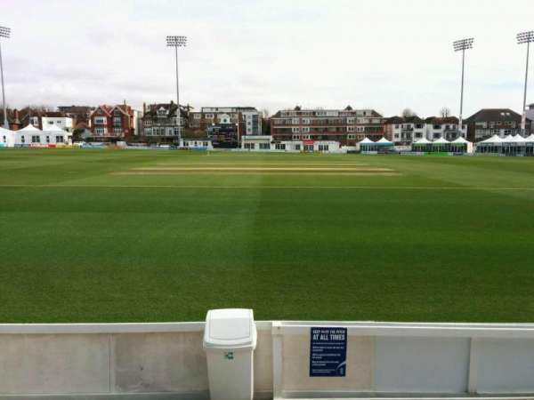 County Cricket Ground (Hove), section: B, row: c, seat: 32