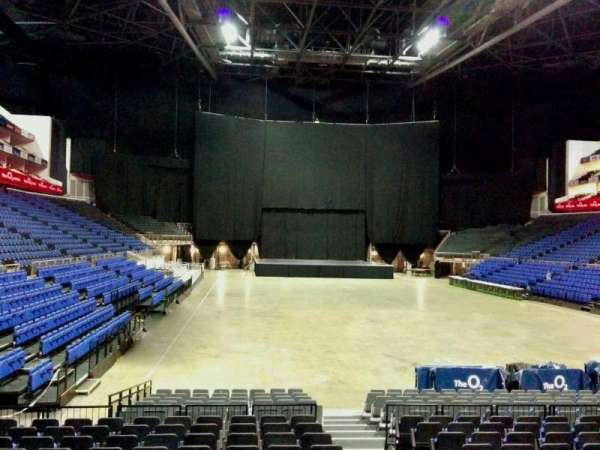 The O2 Arena, section: 106, row: k, seat: 174