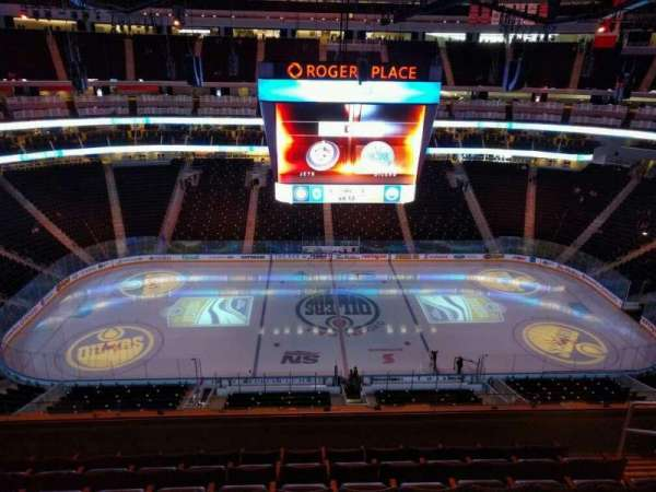 Rogers Place, section: 203, row: 7, seat: 7