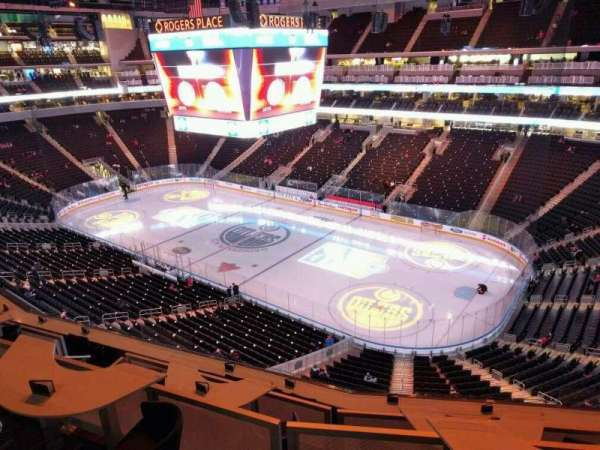 Rogers Place, section: 216, row: 1, seat: 7