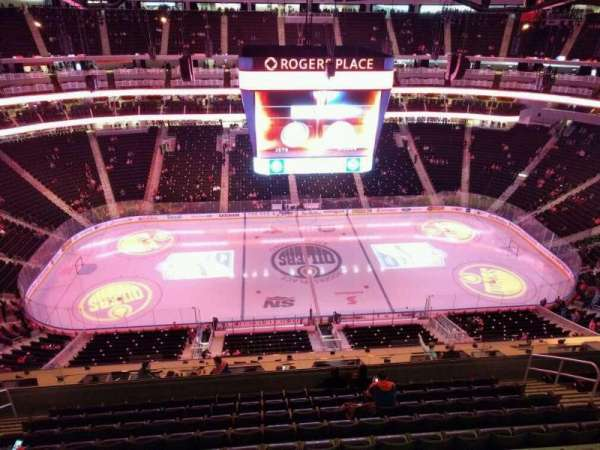 Rogers Place, section: 203, row: wc, seat: 14