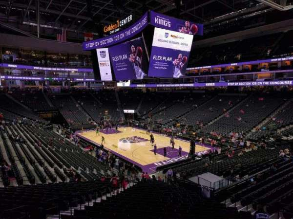 Golden 1 Center, section: 116, row: wc
