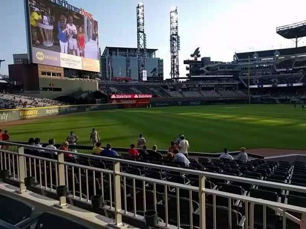 Truist Park, section: 142, row: 2, seat: 4
