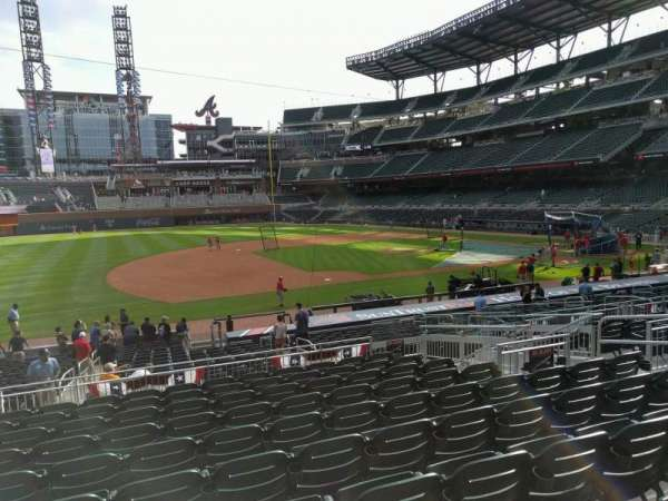 Truist Park, section: 135, row: 10, seat: 10