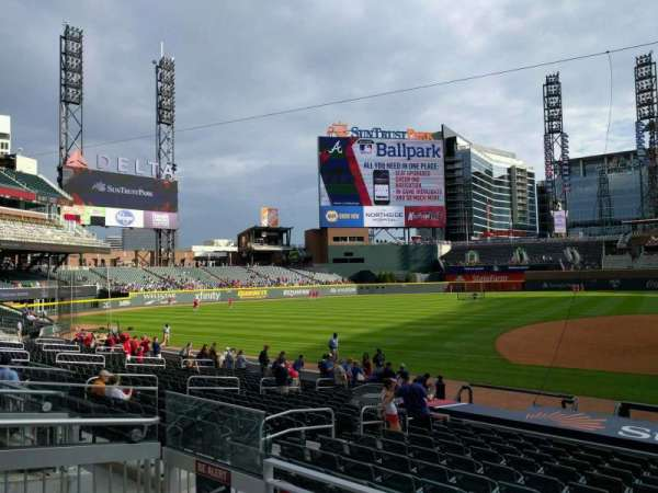 SunTrust Park, section: 133, row: 3, seat: 12