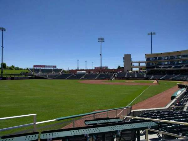 Isotopes Park, section: 125, row: j, seat: 4