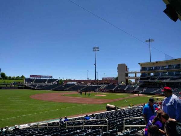 Isotopes Park, section: 119, row: p, seat: 11