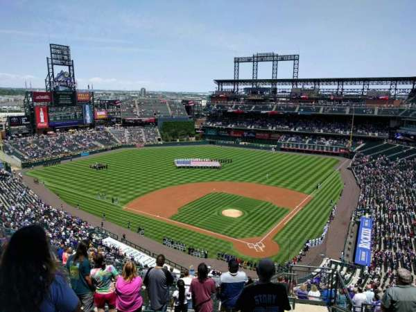 Coors Field, section: U333, row: 17, seat: 2