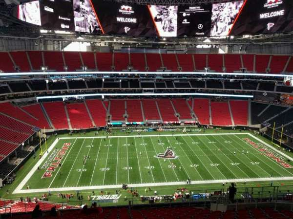 Mercedes-Benz Stadium, section: 313, row: 17, seat: 12