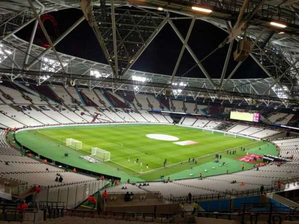 London Stadium, section: 256, row: 57, seat: 666