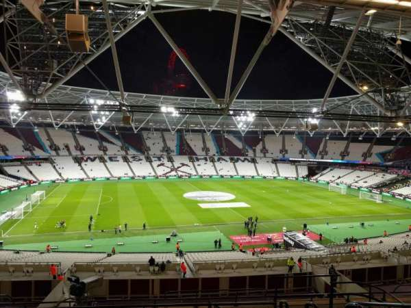 London Stadium, section: 206, row: 55, seat: 504