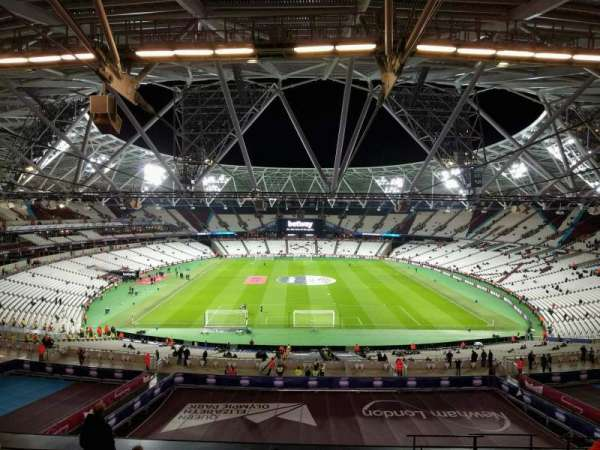 London Stadium, section: 222, row: 59, seat: 007