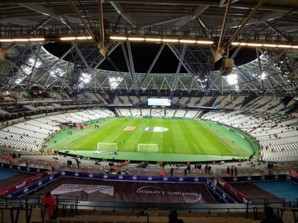 London Stadium, section: 222, row: 63, seat: 854