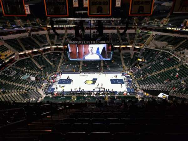 Bankers Life Fieldhouse, section: 208, row: 19, seat: 22