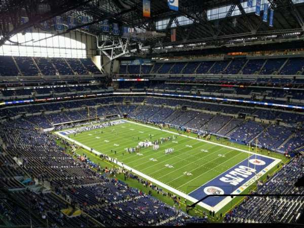 Lucas Oil Stadium, section: 606, row: 7, seat: 8