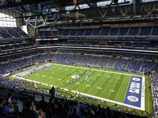 Lucas Oil Stadium, section: 609, row: 13, seat: 13